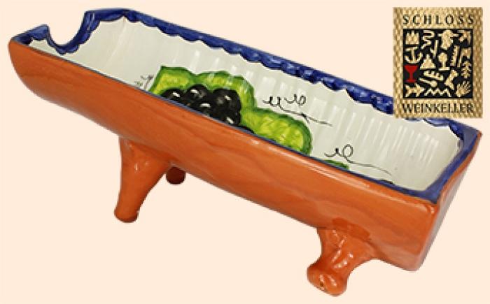 Flaschenhalter Terracotta Ziegel (handbemalt)